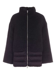 ADD - Wool and mohair detail down jacket in black
