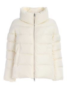 ADD - Oversize fit down jacket in cream color