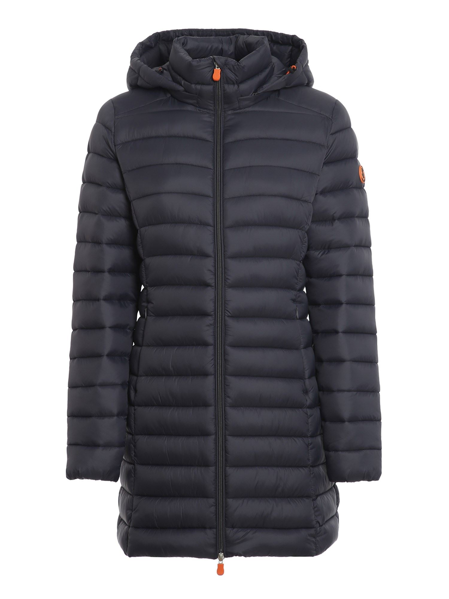 Save The Duck ULTRA LIGHT HOODED PADDED COAT IN BLUE