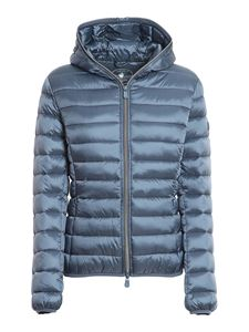 Save the duck - Nylon puffer jacket in blue