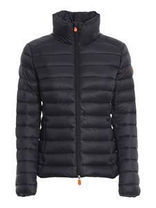 Save the duck - Ultralight nylon padded jacket in black