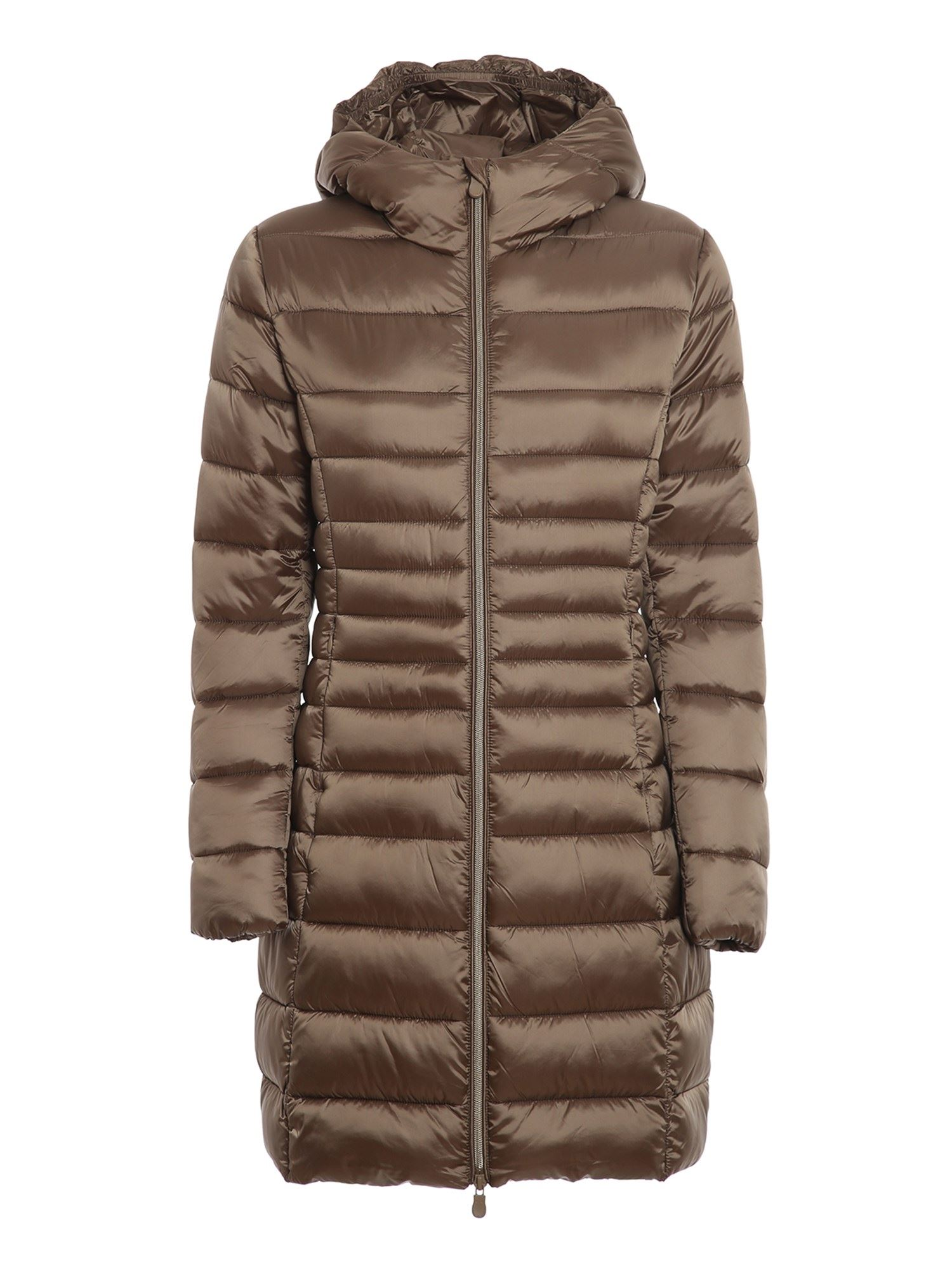 Save The Duck ULTRA LIGHT BREATHABLE HOODED PADDED COAT IN BRONZE