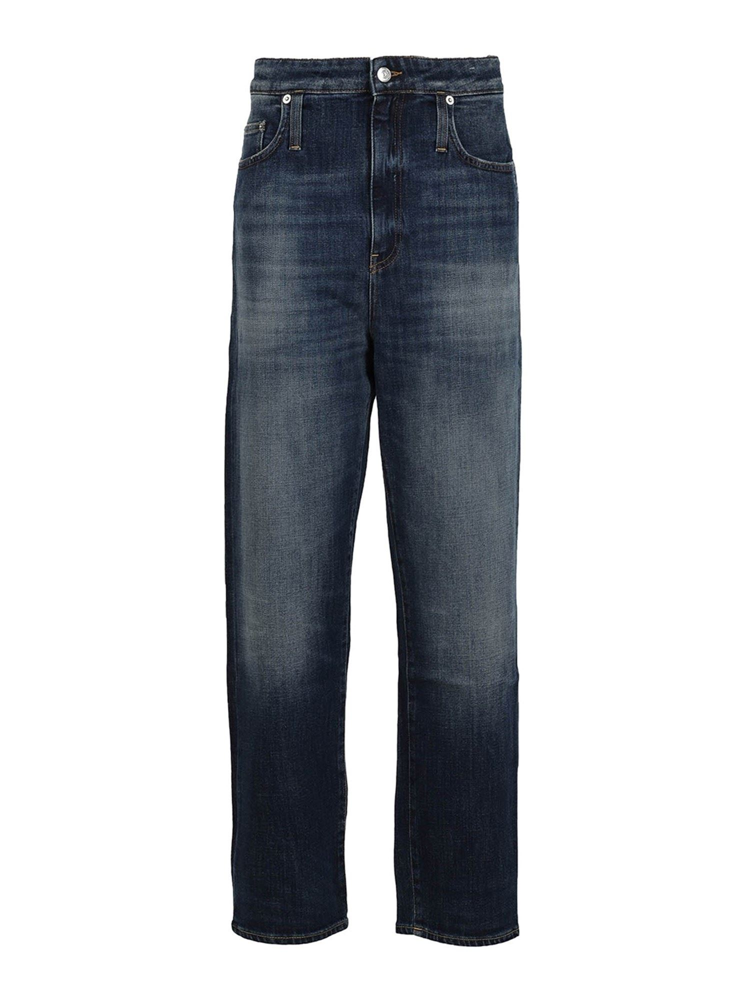 Department 5 FADED STRAIGHT LEG JEANS IN BLUE
