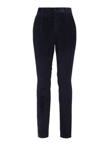 Dolce & Gabbana - Corduroy cotton trousers in blue