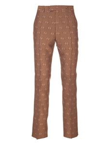 Gucci - GG tailored pants in brown and beige