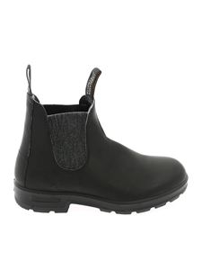 Blundstone - Elasticated detail ankle boot in black