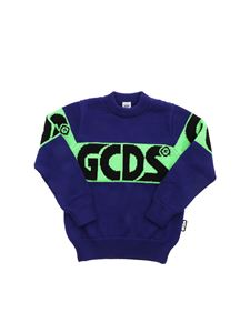 GCDS - Embroidered logo pullover in purple