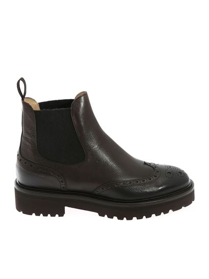 Doucal's - Elasticated detail ankle boot in brown