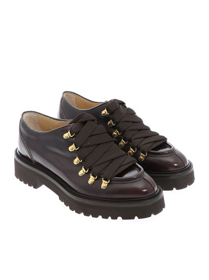 Doucal's - Derby in burgundy color