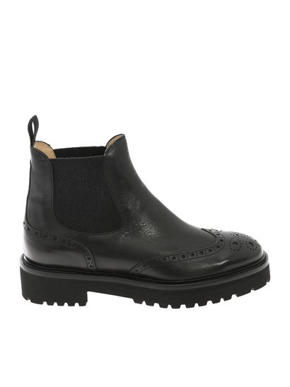 Doucal's - Elasticated detail ankle boots in black