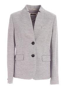 Peserico - Semi-lined single-breasted jacket in grey