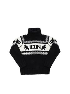 Dsquared2 - Embroidered Icon logo turtleneck in black
