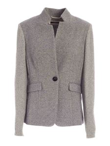 Peserico - Single-breasted jacket in grey