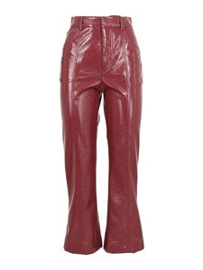 Philosophy di Lorenzo Serafini - Faux leather bootcut pants in red