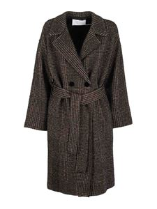Harris Wharf London - Wool double breasted coat in grey