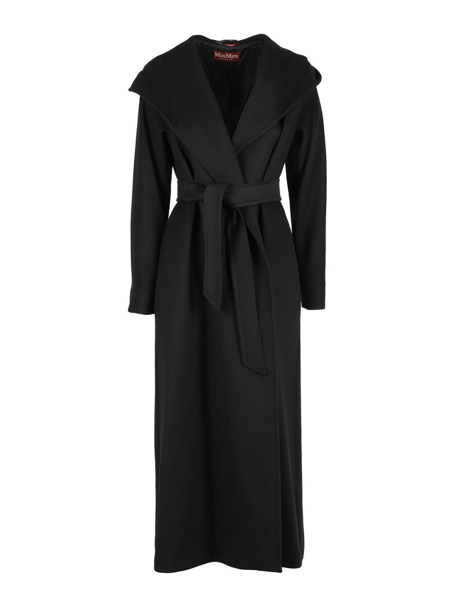 Max Mara DANTON 3 PURE WOOL COAT IN BLACK