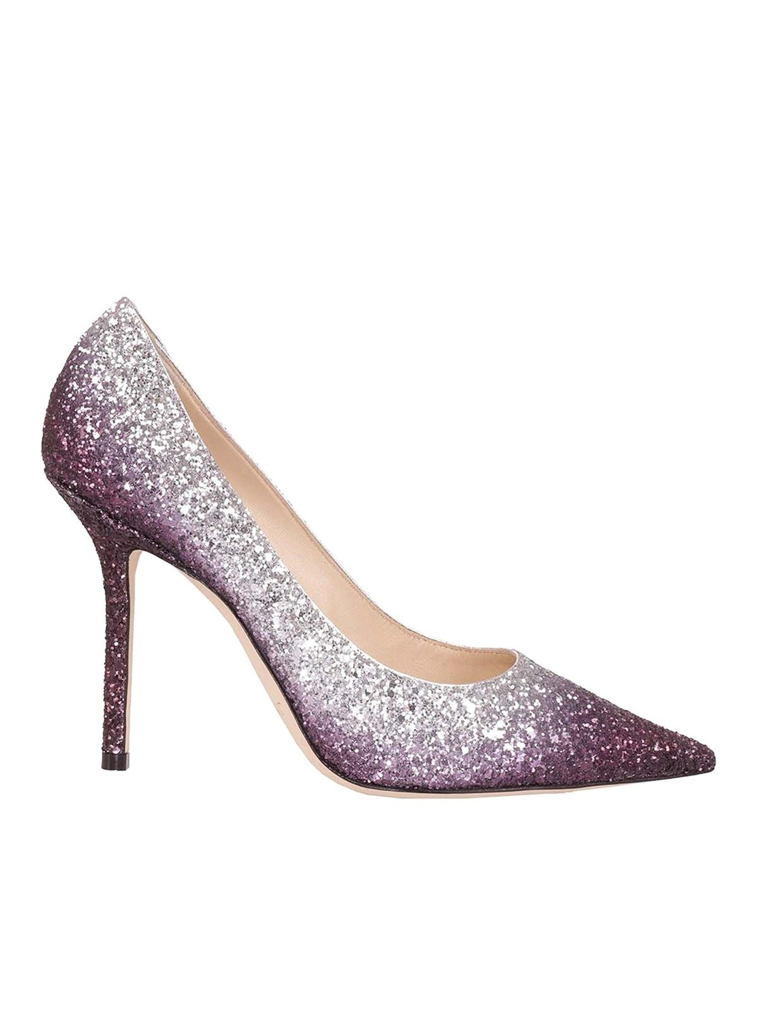 Jimmy Choo High heels LOVE 100 PUMPS IN SILVER COLOR