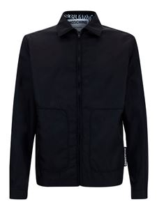 Moschino - Patch pocket cotton jacket in black