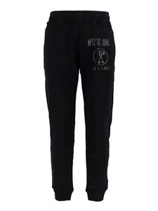 Moschino - Cotton tracksuit bottom with logo in black