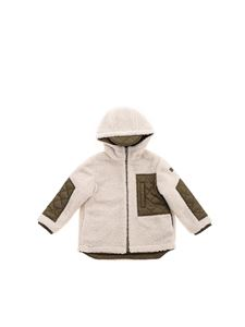 Il Gufo - Reversible down jacket in green and beige