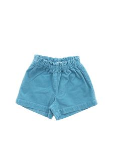 Il Gufo - Corduroy shorts in light blue