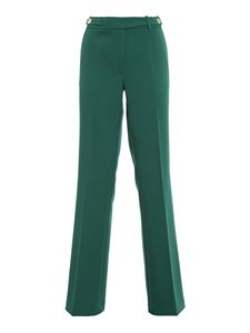 Pinko - Aral heavy crepe trousers in green