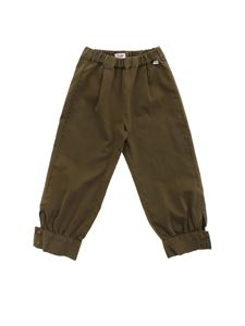Il Gufo - Buttons pants in green