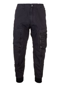 Stone Island - Zip cargo pants in black