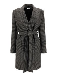 Parosh - Virgin wool belted coat in grey