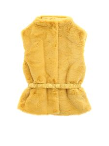 Il Gufo - Faux fur vest in mustard color