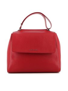 Orciani - Sveva Micron medium leather bag in red