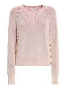 Michael Kors - Side buttons pink sweater in pink