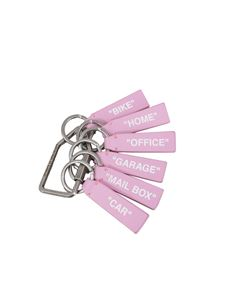 Off-White - Label keychain in pink