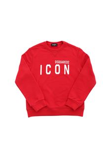 Dsquared2 - White logo sweatshirt in red