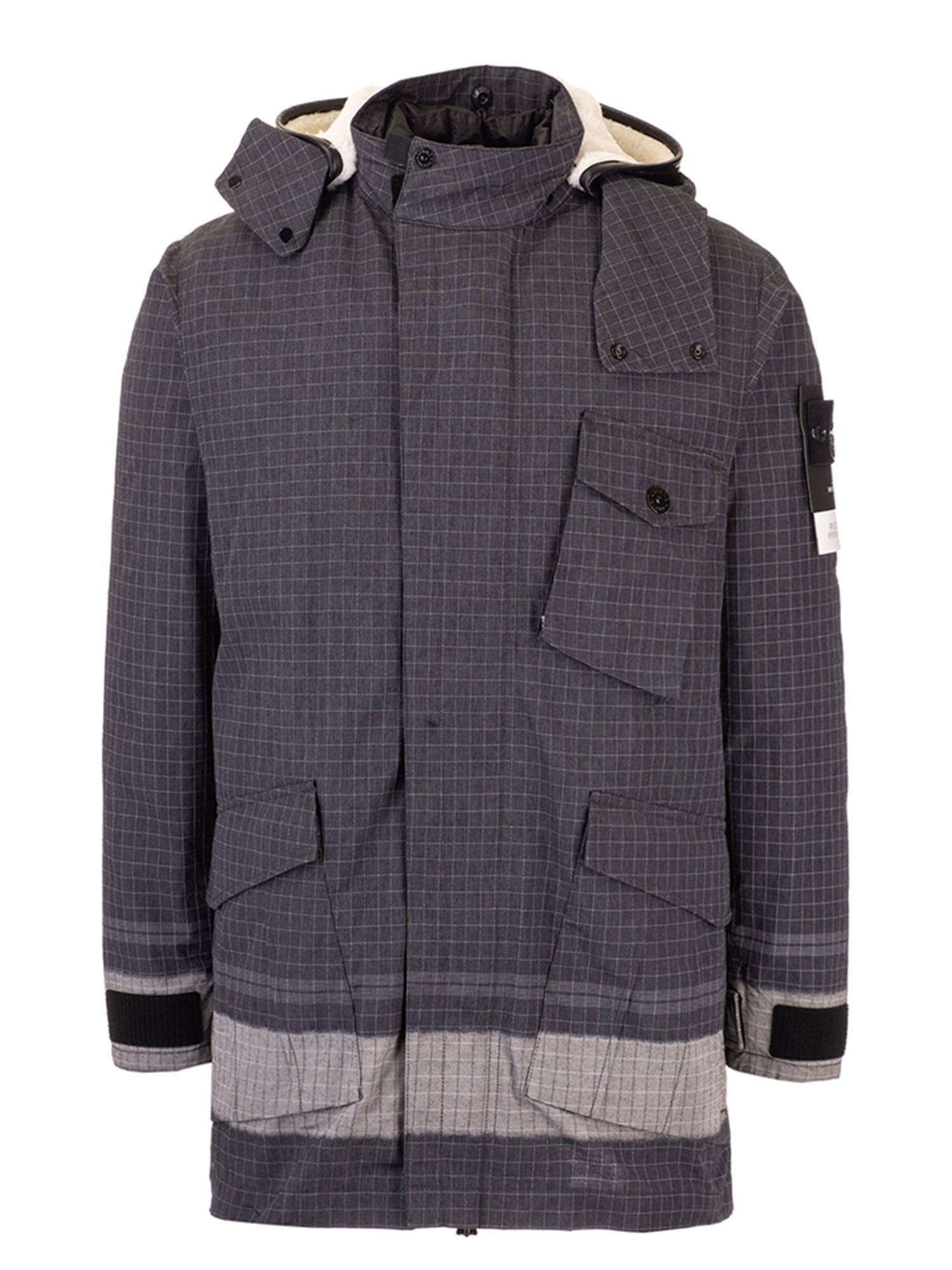 Stone Island REFLECTIVE RIPSTOP CHINÉ JACKET IN BLACK