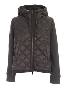 Moncler - Padded cardigan in green