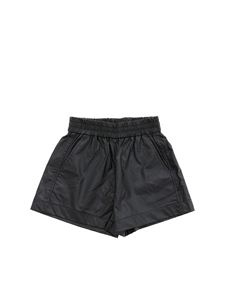 Monnalisa - Faux leather shorts in black