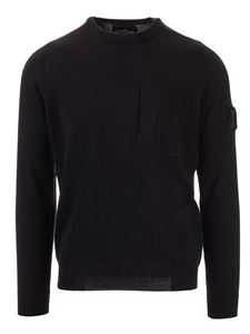 Stone Island - Pullover chest pocket in black