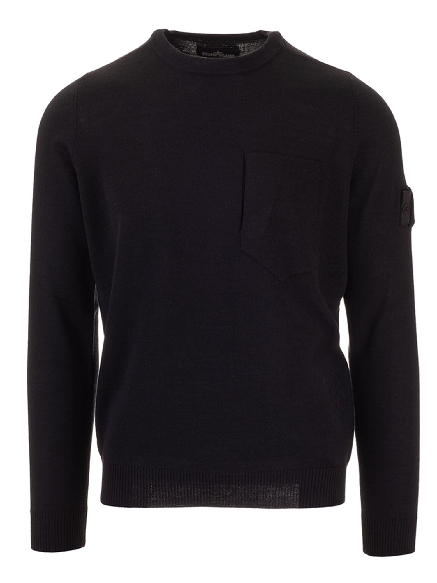 Stone Island PULLOVER CHEST POCKET IN BLACK