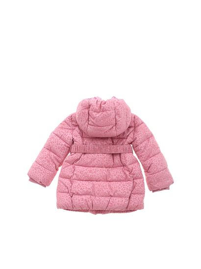 Monnalisa - Spotted puffer jacket in pink
