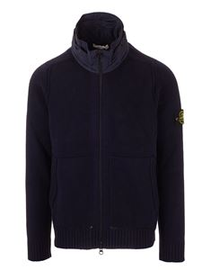 Stone Island - Foldaway hooded cardigan in black