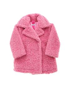 Monnalisa - Teddy effect coat in pink
