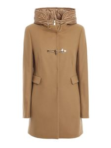 Fay - Wool blend duffle coat in camel color