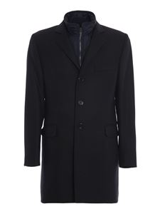 Fay - Grisaille coat in blue
