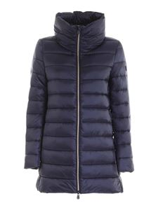 Save the duck - Crater collar puffer jacket in blue
