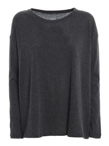 Majestic Filatures - Cashmere blend T-shirt in grey
