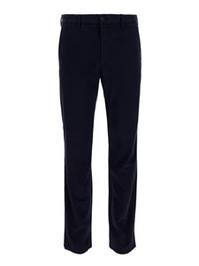 Z Zegna - Pantaloni in lana stretch blu