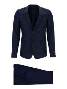 Z Zegna - Checked suit in blue