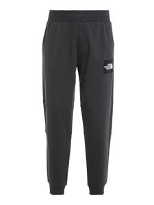 The North Face - Logo patch tracksuit bottoms in grey