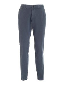 Briglia 1949 - Slash side pockets pants in melange blue